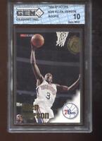 Allen Iverson RC 1996-97 NBA Hoops #295 HOF 76ers Rookie GEM MINT 10