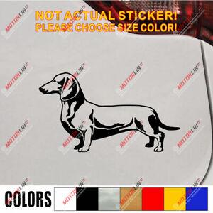 Dachshund Dog Puppy Decal Sticker Car Vinyl die cut no background pick size