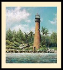 """Cape Florida"" by Tripp Harrison (Art/Lithograph/Lighthouse/Island)"