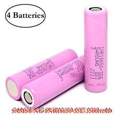 4x Samsung INR 18650 35E 8A 3500mAh Rechargeable Flat Top High Drain Battery