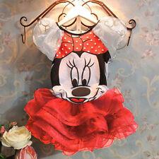 Infantil Niñas Dibujos Minnie Mouse Verano Vestido Princesa Fiesta Casual De