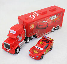 Disney Pixar Cars NO.95 Mack Truck & NO.95 Cars2 Lightning McQueen Kid Gift Toys