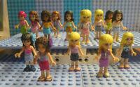(J9 / 7 ) LEGO 3x FRIENDS FIGUREN NACH ZUFALL GUTER ZUSTAND TOP SELTEN kg