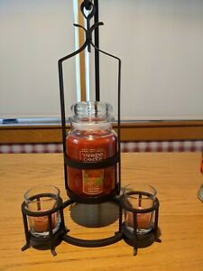 ~NEW~ Yankee Candle Free Standing Iron Hanging Jar Holder for Large Size Candles