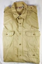 Vintage Mens Banana Republic Safari Shirt Mill Valley California X Large Xl Tan
