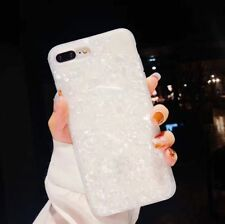 Case For iPhone Glossy Marble Shockproof Soft Silicone Case Cover CA Shipping