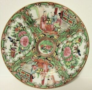 "FAB Perfect Hand Painted Chinese Rose Medallion Famille Rose 6 & 1/4"" Plate"