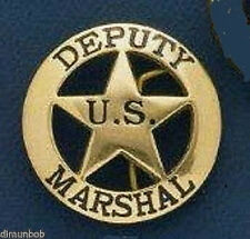Deputy U.S.Marshall Badge Belt Buckle (Brass)
