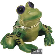 Little Paws  Frog Jewellery Trinket Box NEW in Gift Box -  21152