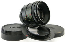 *INFINITY Adapted* HELIOS 44-2 58mm f/2 USSR Lens M42 with Adapter Nikon F Mount