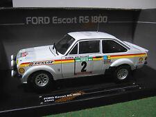 FORD ESCORT RS1800 RALLY #2 WINNER o 1/18 voiture miniature Rallye SUN STAR 4455