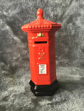 Collectible 2002 Royal Mail Red Pillar Box Letter Box Ceramic Money Box