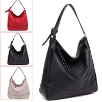 Women Fashion Slouch PU Leather Hobo Handbag Satchel Shoulder Tote Bag