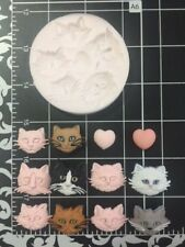 Kitty Cats Cat Face silicone mold Kids-Fondant-Candy-Clay-crafts-Resin-Jewelry