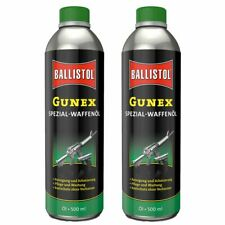 (31,99€/1l) BALLISTOL 2 Stück 500 ml Gunex Spezial-Waffenöl Dose Waffenpflege 22