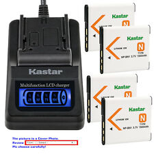 Kastar Battery LCD Quick Charger for Sony NP-BN1 NPBN1 Sony Cyber-shot DSC-W630
