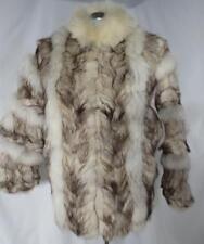 Luscious Fox Fur Arctic Blue Fashion Glam Bat Wing Coat Small