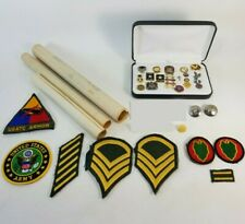 Vintage Lot Pins Patches Florida Revenue 25 Years Service Poll Worker Korea Vet