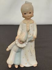 Vintage Hand Painted Lefton Girl with Clown Doll Figurine