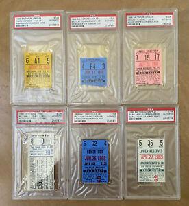 PSA 1960s BALTIMORE ORIOLES TICKET STUB LOT - BROOKS & FRANK ROBINSON HOMERUNS