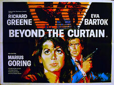 BEYOND THE CURTAIN 1960 Richard Greene, Eva Bartok, Marius Goring UK QUAD POSTER