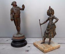 Deux regules anciens statue sculpture @