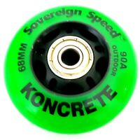 8x 68mm Outdoor Inline Skate Wheels w Bearings rollerblade roller hockey fitness