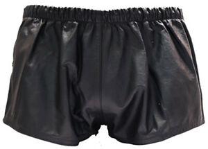 BRAND NEW 100% Real Leather Snap Sided shorts BEST SELLER!!