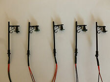 Pack of 5 x 00 Gauge 12v dc Station Platform Working lights Single lamp version