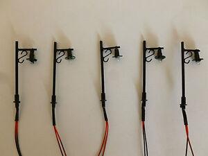 Pack of 5 x 00 Gauge 12v dc Station Platform Working lights Single lamp version