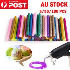 50/100PCS GLITTER Hot Melt Glue Adhesive Sticks Glue Gun Craft Tool Heat Arts