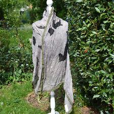 ETole Foulard Echarpe 180 X 115 cm gris noir cheval ZAZA2CATS new