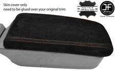 BROWN STITCH REAL SUEDE ARMREST LID COVER FITS SUBARU FORESTER SG9 2006-2008