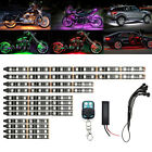 12Pcs Motorcycle RGB 120LED Neon Under Glow Lights Strip Kit For Universal Motor