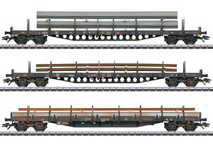 Marklin 47145 Gruppo Of Wagons With Standalone Module With Load Ed Distressed