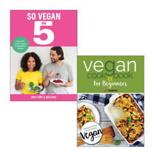 So Vegan in 5 and Cookbook For Beginners Collection 2 Books Set Delicious NEW