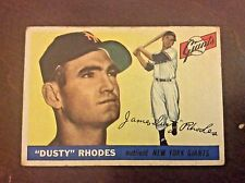 """1955 Topps  #1 James """"Dusty"""" Rhodes New York Giants Vintage Card"""