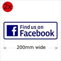 1 x Find Us On Facebook Social Media  Laminated Sticker.