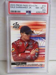 2003 Press Pass Stealth Dale Earnhardt Jr PSA NM-MT 8.5+ Racing Card #10 NASCAR