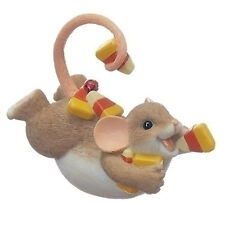 Charming Tails Mouse on Belly with Candy Corn Halloween Figurine Statue 130455