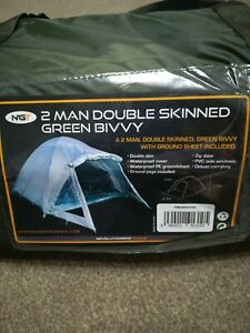 2 man bivvy tent with ground sheet, double skin packs away small and lightweight