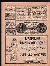 WWI Pub Réclame Ricqlès Albumine Aspirine Usine du Rhone Kodak 1916 ILLUSTRATION