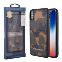 KASO Camo Genuine Leather Credit Card Pocket Case For iPhone 11 Pro Max XS XR X