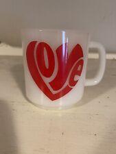 New listing vtg milk glass hippy love mug cup glass