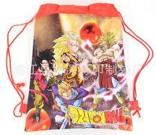 Anime Figure Dragon Ball Z Goku Drawstring Backpack Child Sling Gym Bag B20# UK
