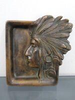 Bronzeschale,Bronze,Indianer,Relief,um1900,Jugendstil,Wiener Bronze?