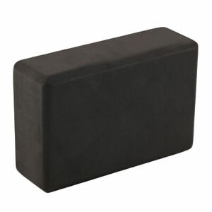 1pc Black Yoga Block EVA Foam Fitness Brick Pilates Tool Gym Workout Stretching