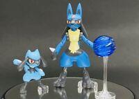 *Authentic* Pokemon Riolu & Lucario Model Kit Figures Bandai Spirits Nintendo