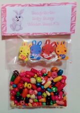 Baby Bunny Wooden Bead Kit Creative Fun Beaded Jewellery + FREE GIFT Fast Post