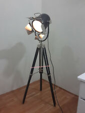 Antique Searchlight With Black Tripod Stand Chrome Finish Table lamp